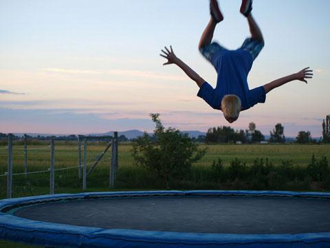session de trampoline